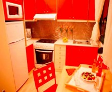 interior red cuisine